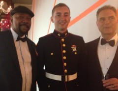 Hero Rescue Fund attending the Governor's Ball with Victor of the US Marines