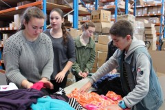Kids Getting Clothing